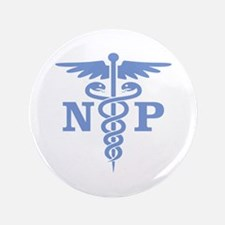 "Caduceus NP (blue) 3.5"" Button"