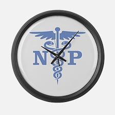 Caduceus NP (blue) Large Wall Clock