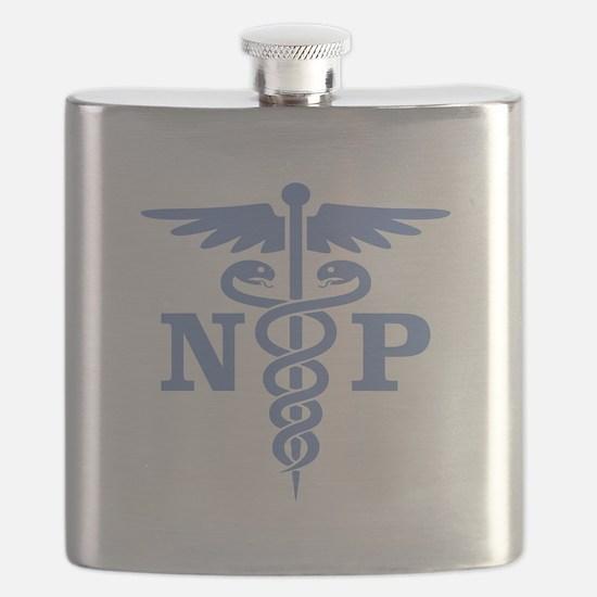 Caduceus NP (blue) Flask