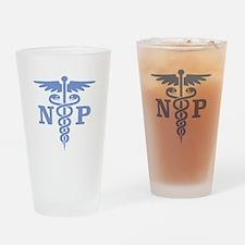 Caduceus NP (blue) Drinking Glass