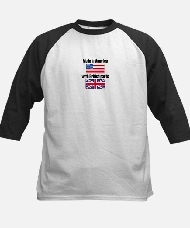 Made In America With British Parts Baseball Jersey