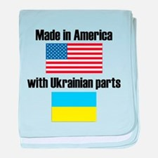 Made In America With Ukrainian Parts baby blanket