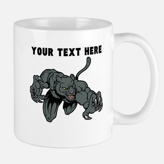 Custom Panther Mascot Mugs