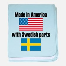 Made In America With Swedish Parts baby blanket