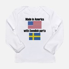 Made In America With Swedish Parts Long Sleeve T-S