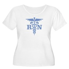 Caduceus RN (blue) Plus Size T-Shirt