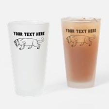 Custom Saber Toothed Tiger Drinking Glass