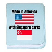 Made In America With Singapore Parts baby blanket
