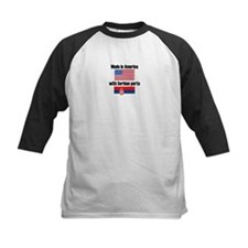 Made In America With Serbian Parts Baseball Jersey