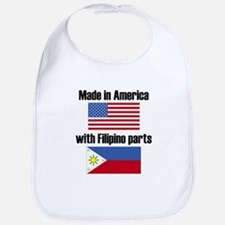 Made In America With Filipino Parts Bib