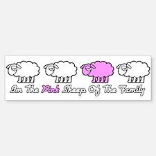 pink_sheep Bumper Car Car Sticker