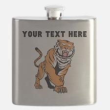 Custom Angry Bengal Tiger Flask