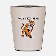 Custom Angry Bengal Tiger Shot Glass