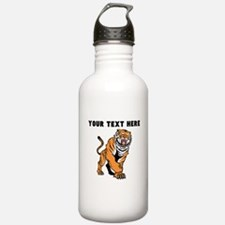 Custom Angry Bengal Tiger Water Bottle