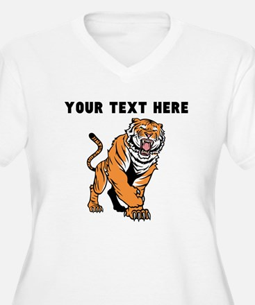 Custom Angry Bengal Tiger Plus Size T-Shirt