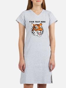 Custom Tiger Head Women's Nightshirt