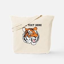 Custom Tiger Head Tote Bag