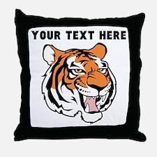 Custom Tiger Head Throw Pillow