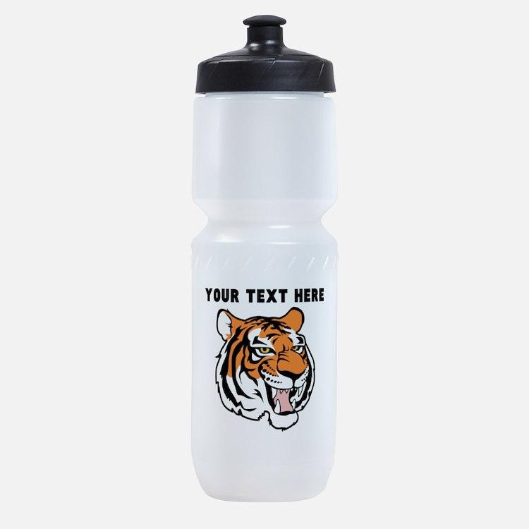 Custom Tiger Head Sports Bottle
