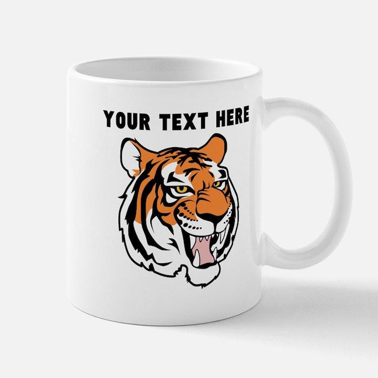 Custom Tiger Head Mugs