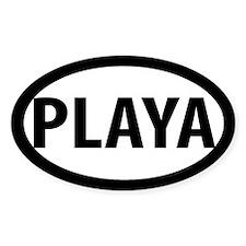 PLAYA 5x3 Oval Decal