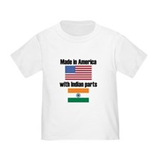 Made In America With Indian Parts T-Shirt