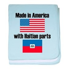 Made In America With Haitian Parts baby blanket