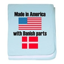 Made In America With Danish Parts baby blanket