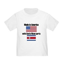 Made In America With Costa Rican Parts T-Shirt