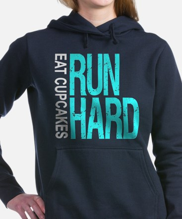 Run Hard Eat Cupcakes Women's Hooded Sweatshirt