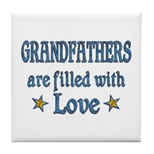 Grandfather Love Tile Coaster