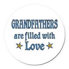 Grandfather Love Round Car Magnet