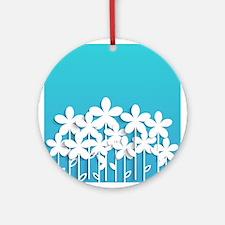 Pretty Flowers Ornament (Round)