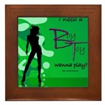 Green Lady Framed Tile