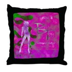 Green Lady Throw Pillow