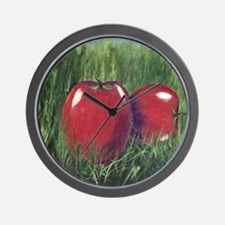 Two Apples Wall Clock