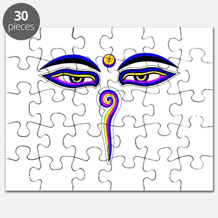 Peace Eyes (Buddha Wisdom Eyes) Puzzle