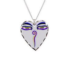 Peace Eyes (Buddha Wisdom Eyes) Necklace Heart Cha