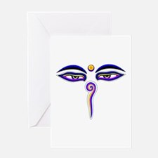 Peace Eyes (Buddha Wisdom Eyes) Greeting Card