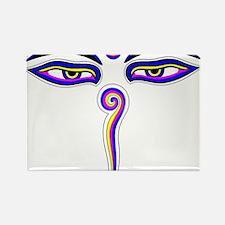 Peace Eyes (Buddha Wisdom Eyes) Rectangle Magnet