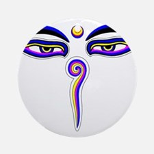 Peace Eyes (Buddha Wisdom Eyes) Ornament (Round)