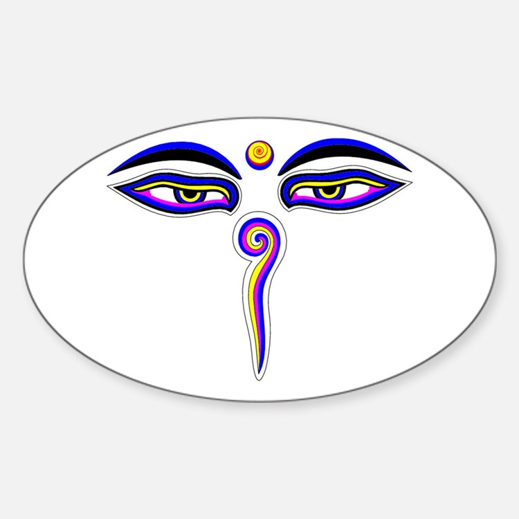 Peace Eyes (Buddha Wisdom Eyes) Decal