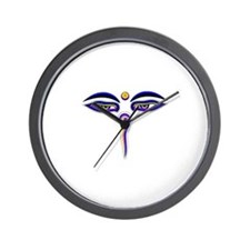 Peace Eyes (Buddha Wisdom Eyes) Wall Clock