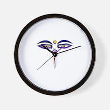 Peace Eyes (Buddha Wisdom Eyes) Wall Clock