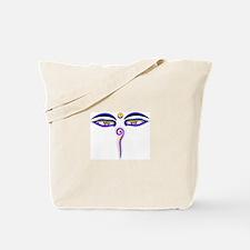 Peace Eyes (Buddha Wisdom Eyes) Tote Bag