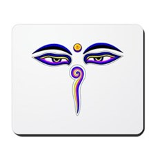 Peace Eyes (Buddha Wisdom Eyes) Mousepad
