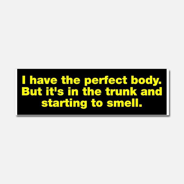 Body In Trunk Car Magnet 10 x 3