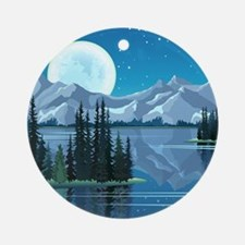 Mountain Sky Ornament (Round)