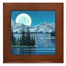 Mountain Sky Framed Tile