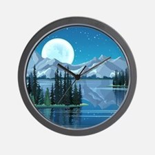 Mountain Sky Wall Clock